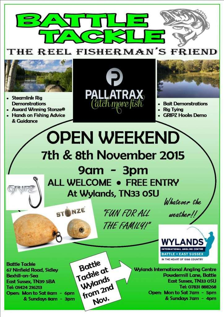 Battle Tackle & Wylands Angling Centre open weekend